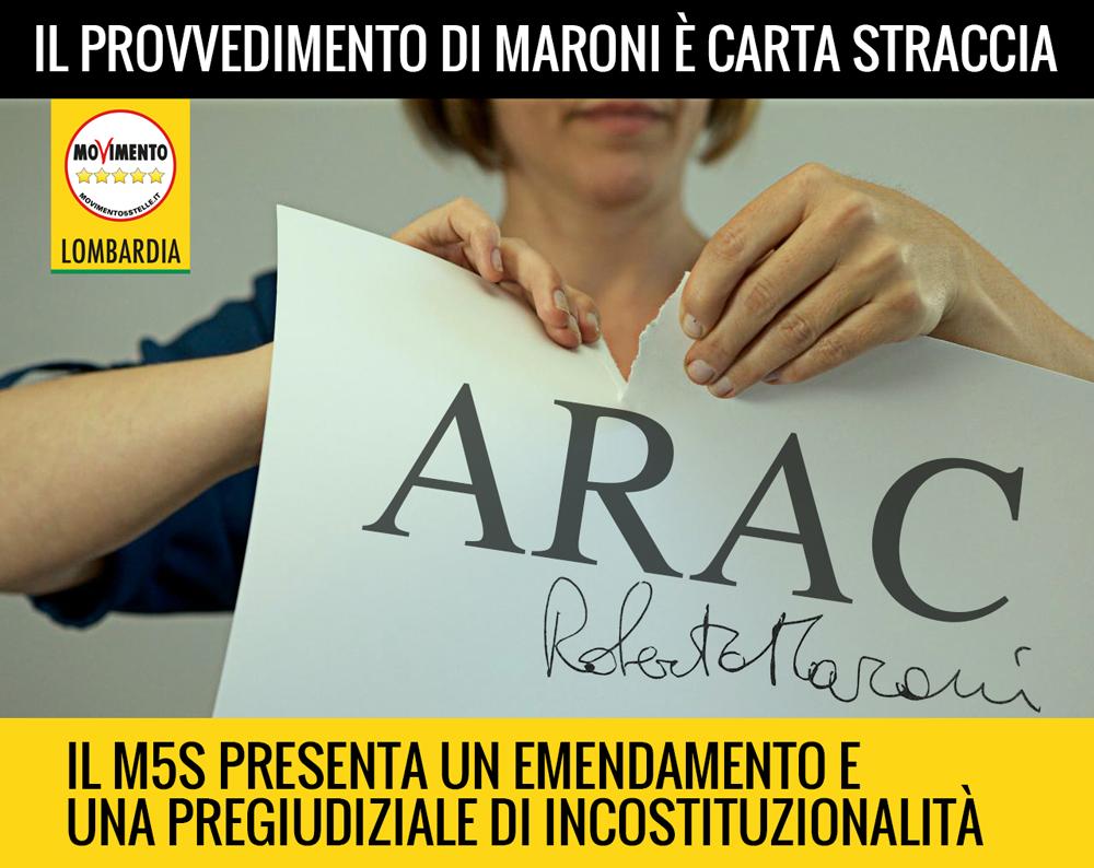 ARAC: un emendamento e una pregiudiziale di incostituzionalità per fermare il pastrocchio di Maroni