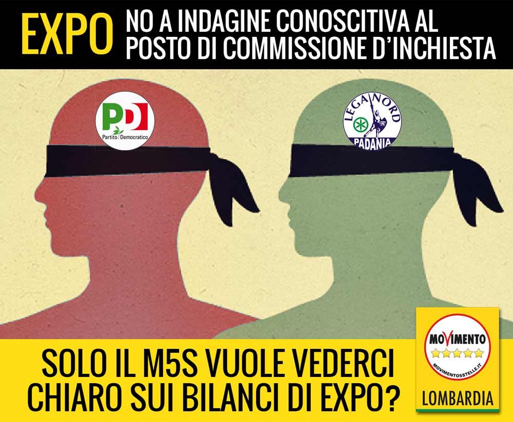 """Expo, stop alla Commissione regionale d'inchiesta, si farà indagine conoscitiva. M5S Lombardia: """"E' la solita farsa"""""""