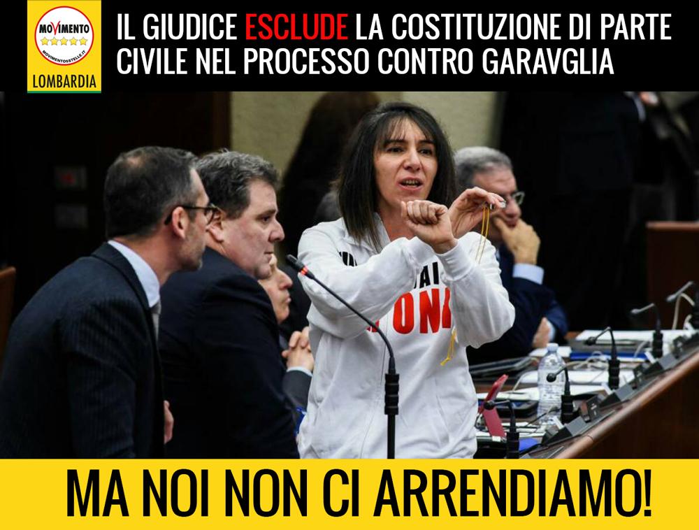 Esclusa la costituzione di parte civile nel processo Garavaglia. Silvana Carcano: non ci arrendiamo.