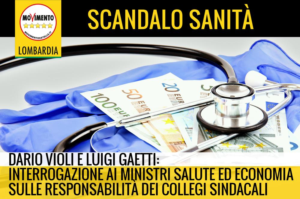 Scandalo Sanità, M5S interroga ministri salute e finanze per far luce su responsabilità componenti collegi sindacali