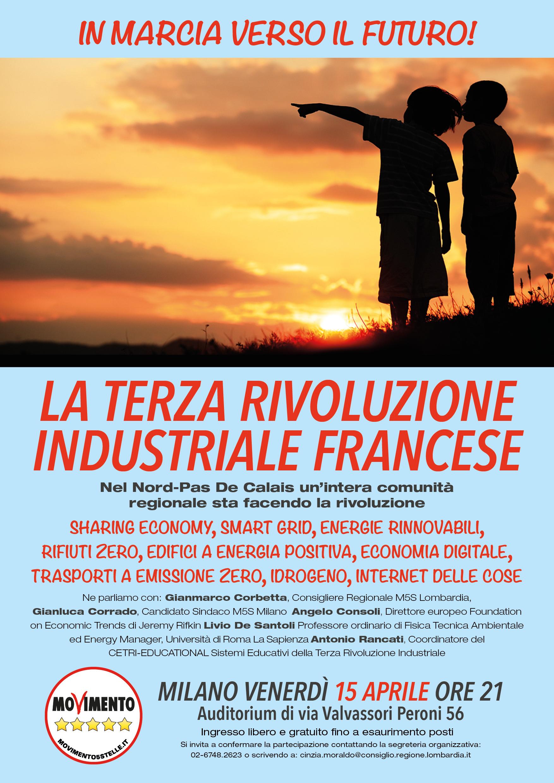 La Terza Rivoluzione Industriale francese. Il convegno M5S a Milano il 15 aprile