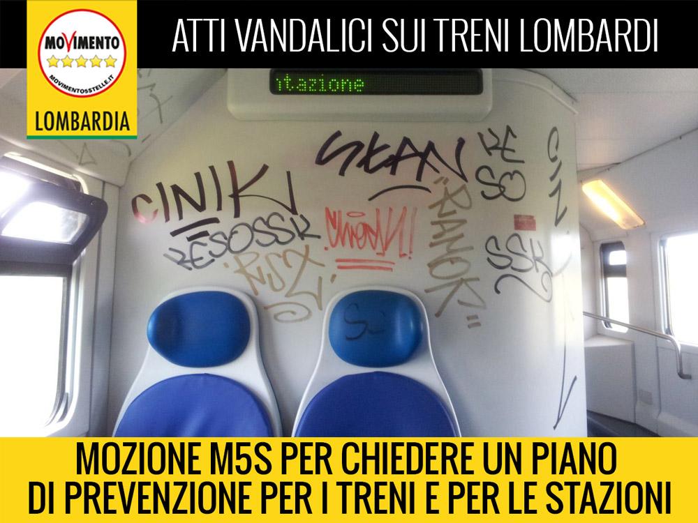 Piano di prevenzione contro atti vandalici su treni e nelle stazioni: la mozione del M5S
