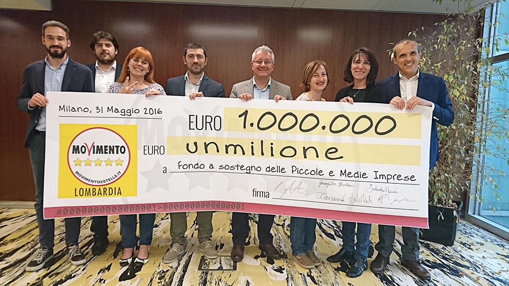 #RestitutionDay2016.M5S Lombardia restituisce 1 milione di euro ai lombardi