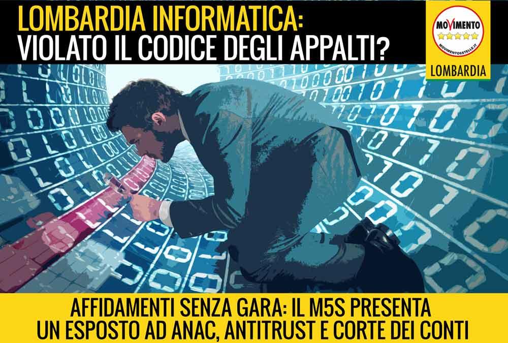 Esposto ad ANAC, Antitrust e Corte dei Conti su acquisti di Lombardia Informatica. Violato il Codice dei Contratti?