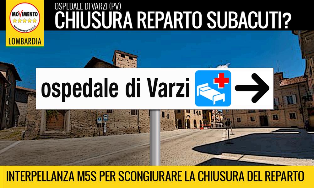Il reparto subacuti dell'Ospedale di Varzi non deve chiudere. Interpellanza M5S.