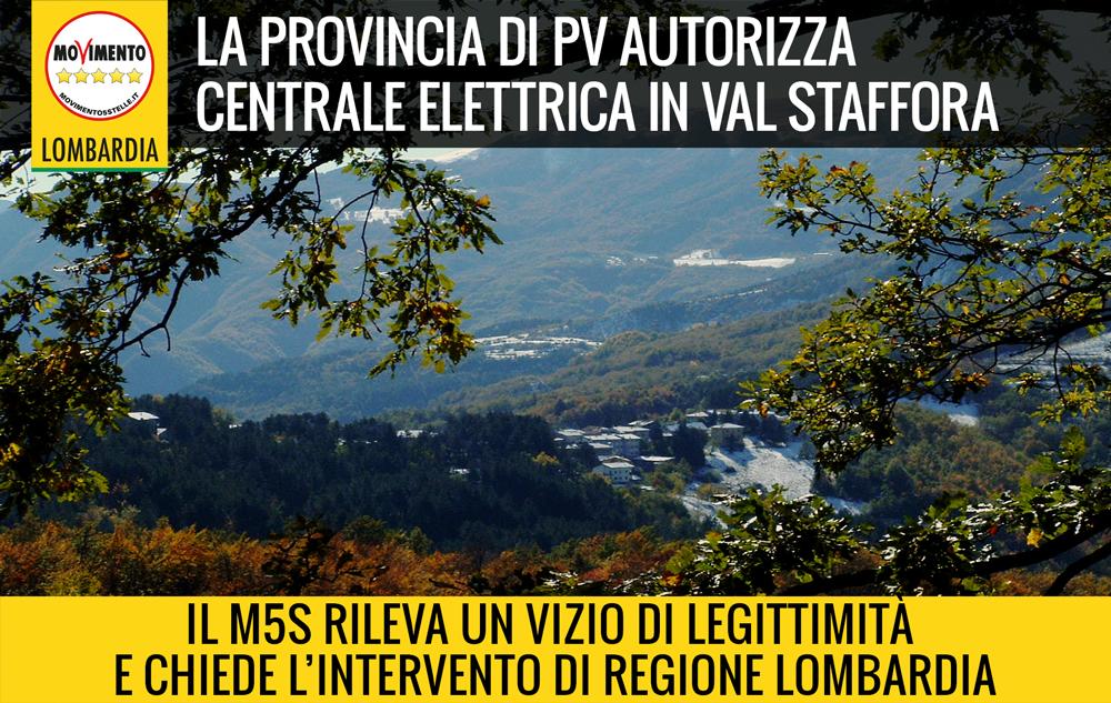 Autorizzata centrale idroelettrica in Val Staffora. M5S rileva vizio di illegittimità e chiede intervento Regione.