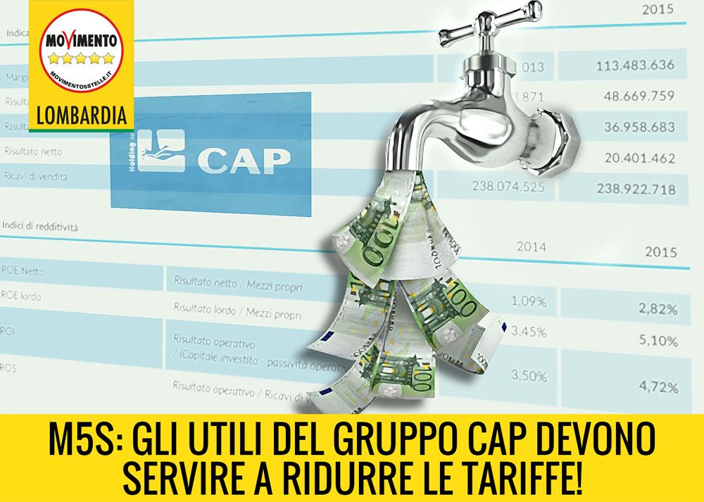 Il gruppo Cap fa profitti invece di ridurre le tariffe ai cittadini