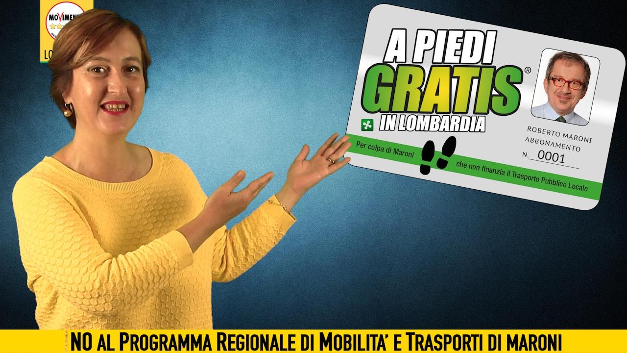 #APiediGratis per colpa di Maroni. Solo il 5% delle risorse sul trasporto pubblico locale.