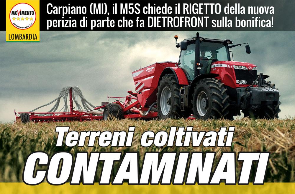 Carpiano: terreni agricoli contaminati, Nanni (M5S) allerta Regione Lombardia: perizia da rigettare