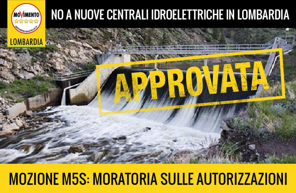 È necessario uno stop alle concessioni idroelettriche in Lombardia, sì a mozione del M5S