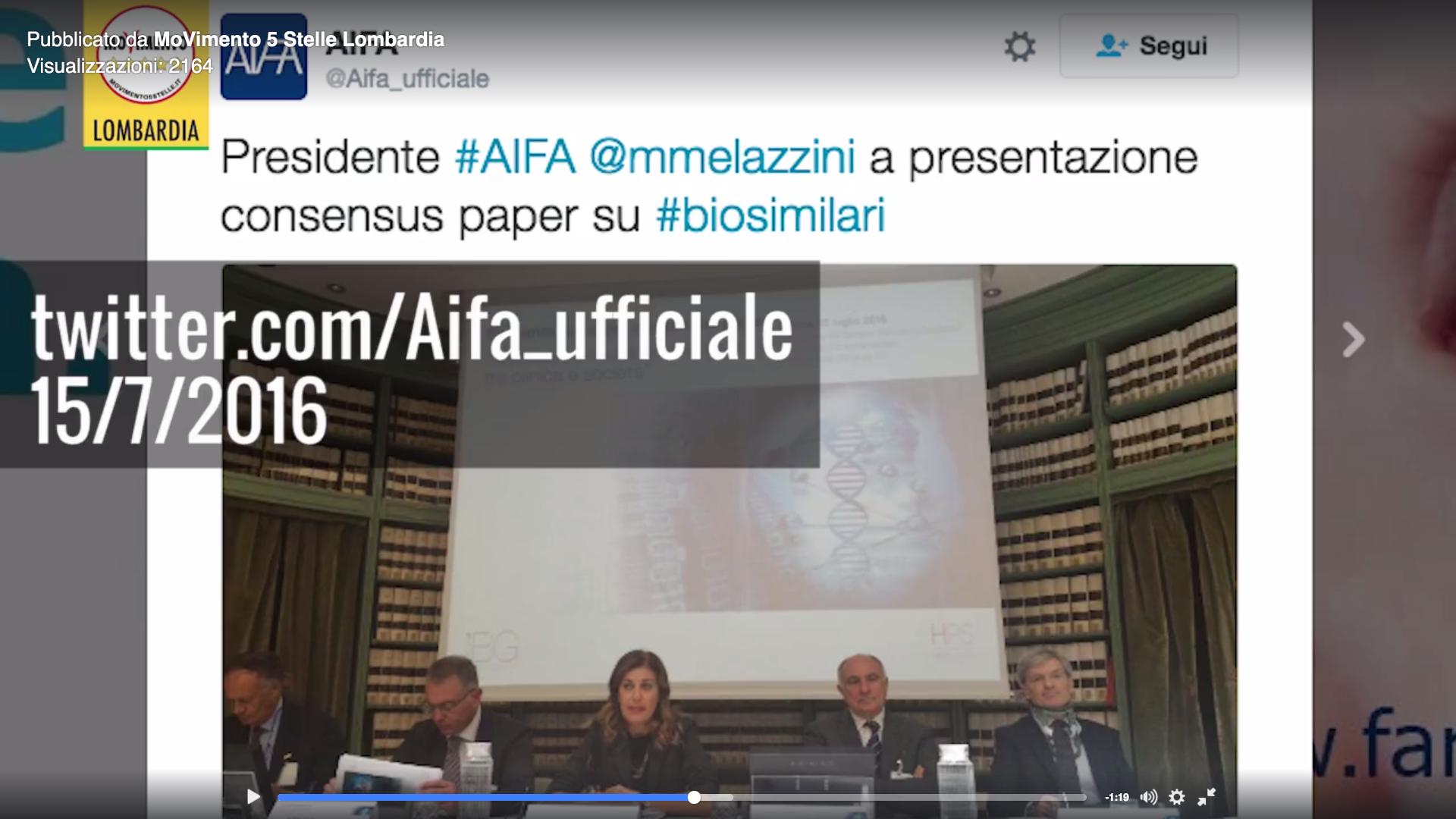 Dimissioni Melazzini, rispetto per l'uomo, ma niente sconti dal M5S su condotta politica inopportuna.