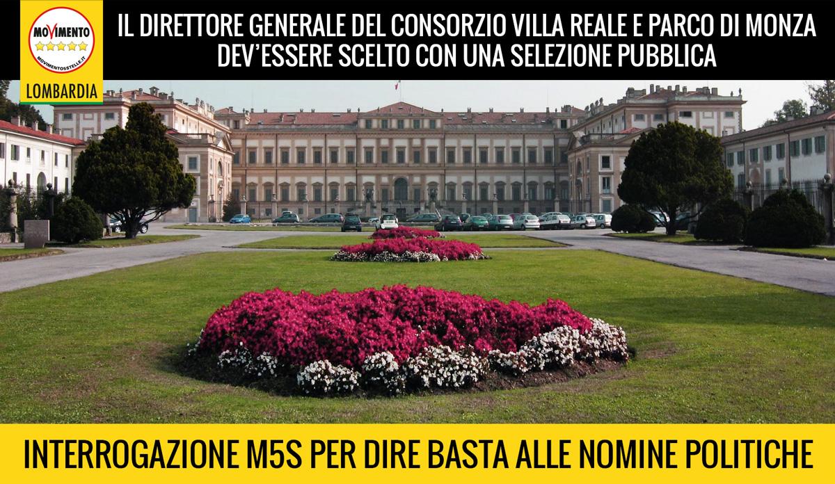 Maroni chiarisca sulla selezione del nuovo direttore Consorzio Villa Reale e Parco di Monza