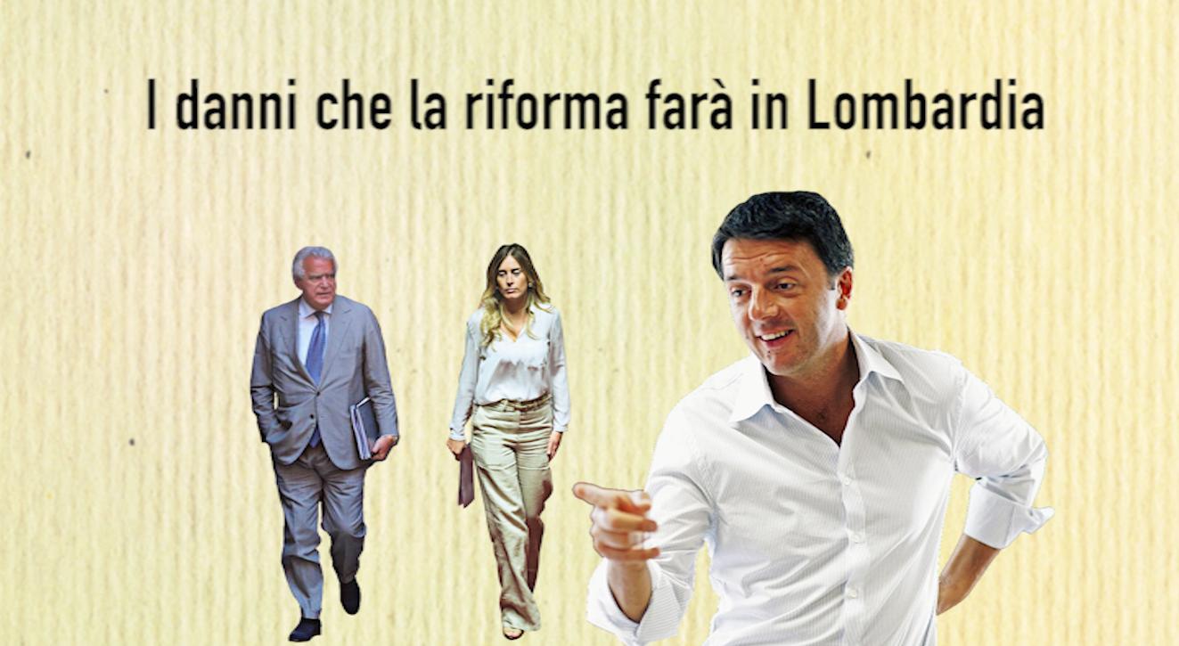 I danni che la riforma farà in Lombardia: #IoDicoNo