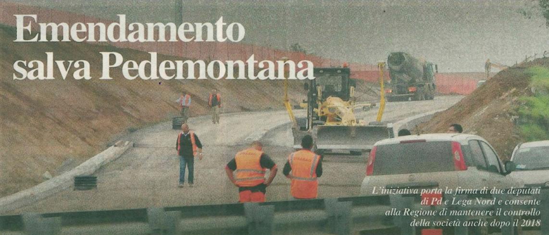Clamoroso inciucio Lega-PD per salvare Pedemontana!