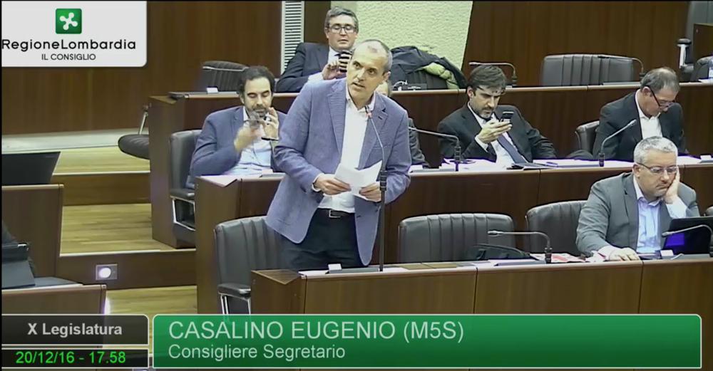 Voto di astensione del M5S Lombardia sul bilancio del Consiglio regionale.