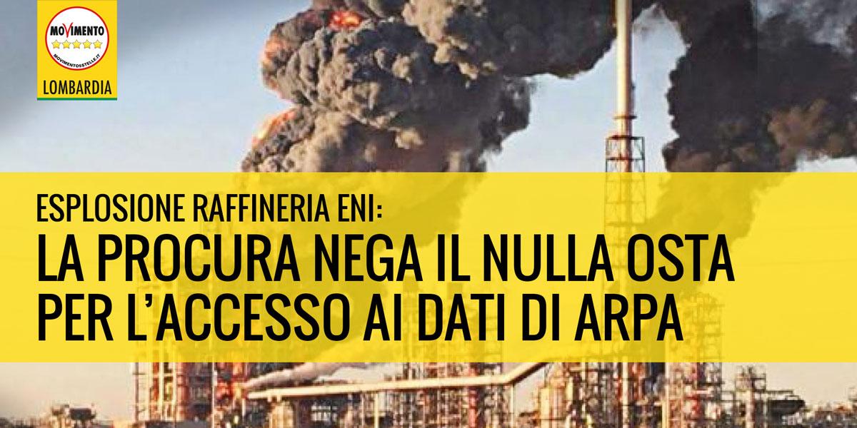 Esplosione alla raffineria ENI: la procura nega il nulla osta per l'accesso ai dati ARPA
