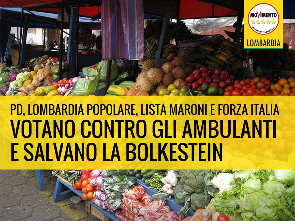 Asse PD-Lombardia Popolare-Lista Maroni-Forza Italia umilia ambulanti e salva direttiva europea Bolkestein.