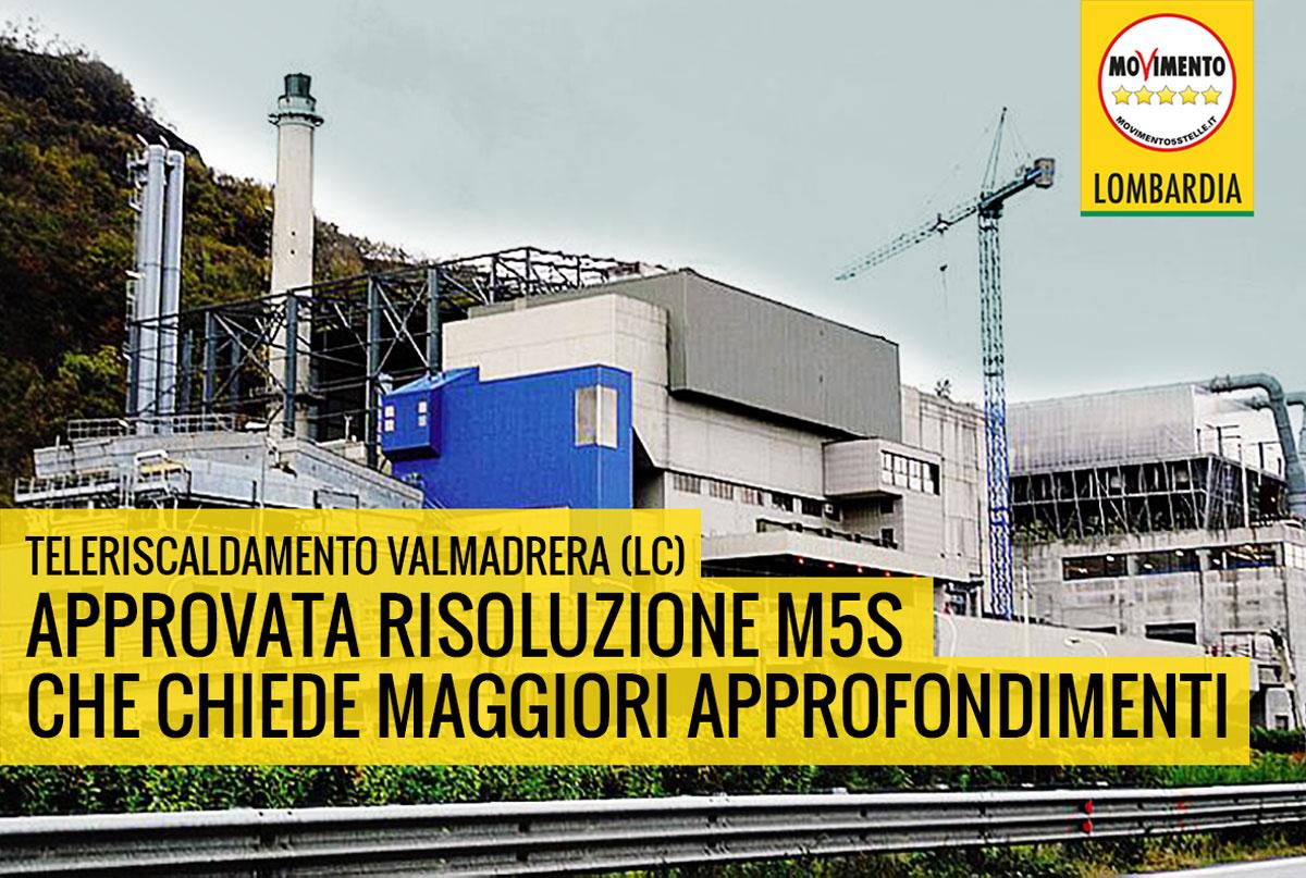 Consiglio regionale approva risoluzione M5S sulla rete di teleriscaldamento dell'inceneritore di Valmadrera.