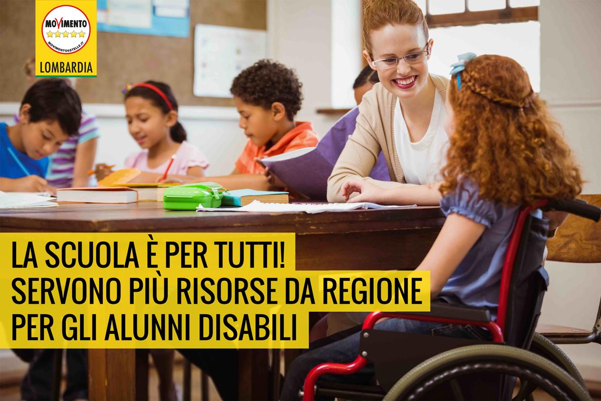 Studenti disabili, basta promesse. La Regione deve stanziare i fondi.
