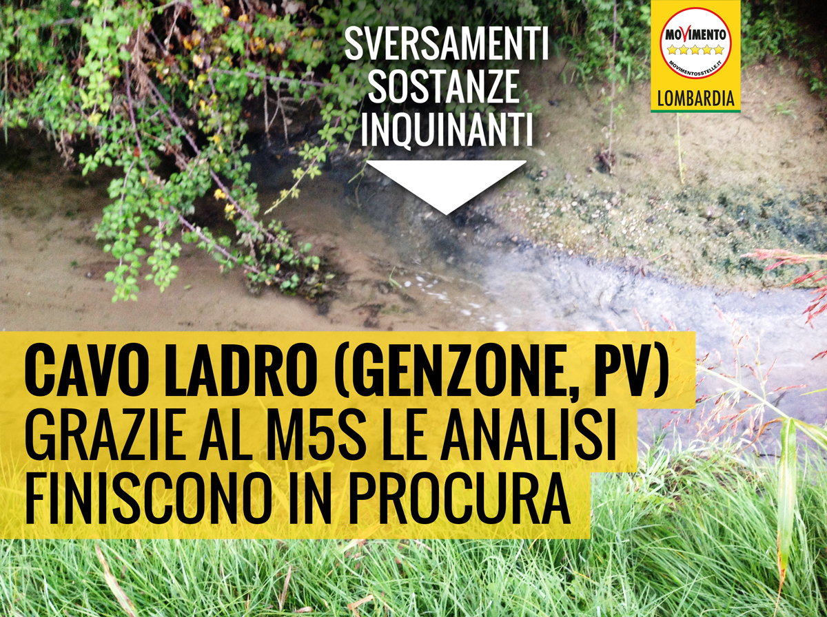 Inquinamento in CAVO LADRO: ARPA ipotizza reato ambientale dopo la richiesta di intervento del M5S