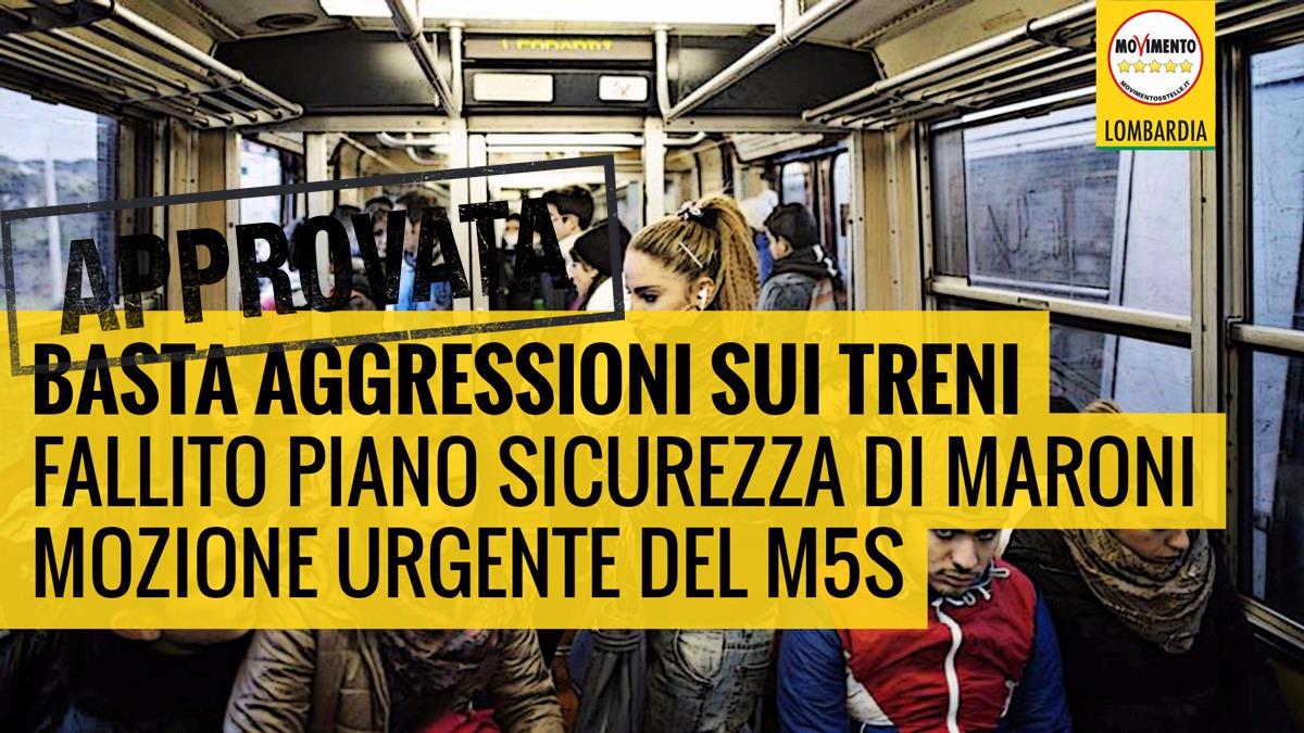 Approvata all'unanimità la mozione urgente del M5S: al via un VERO piano di sicurezza sui treni!