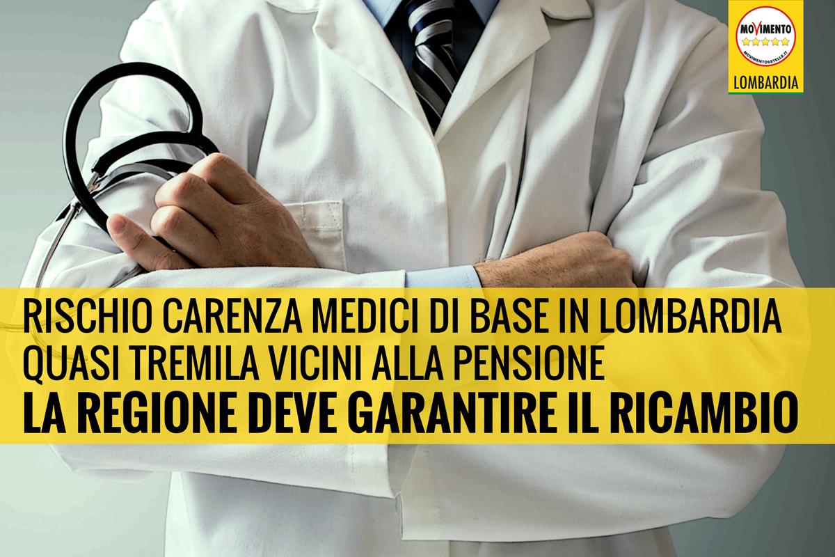 No alla riduzione dei medici di medicina generale. Mozione del M5S Lombardia inviata in Commissione.