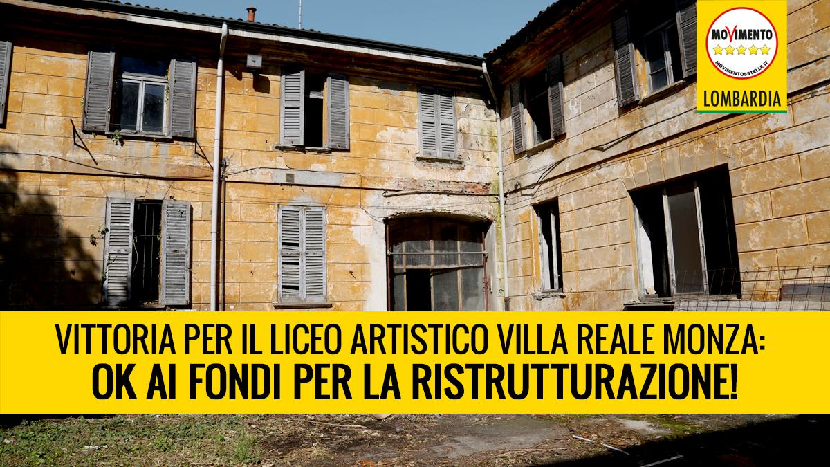 Vittoria! Giunta accoglie proposta M5S per il recupero dei fondi destinati all'Istituto d'Arte di Monza
