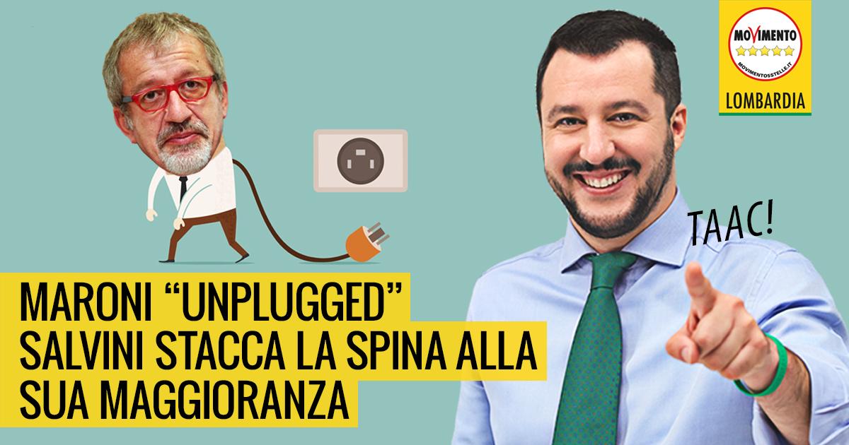 Salvini stacca la spina a Maroni.