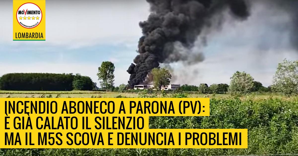 Incendio Aboneco a Parona. E' calato il silenzio ma i cittadini devono sapere.