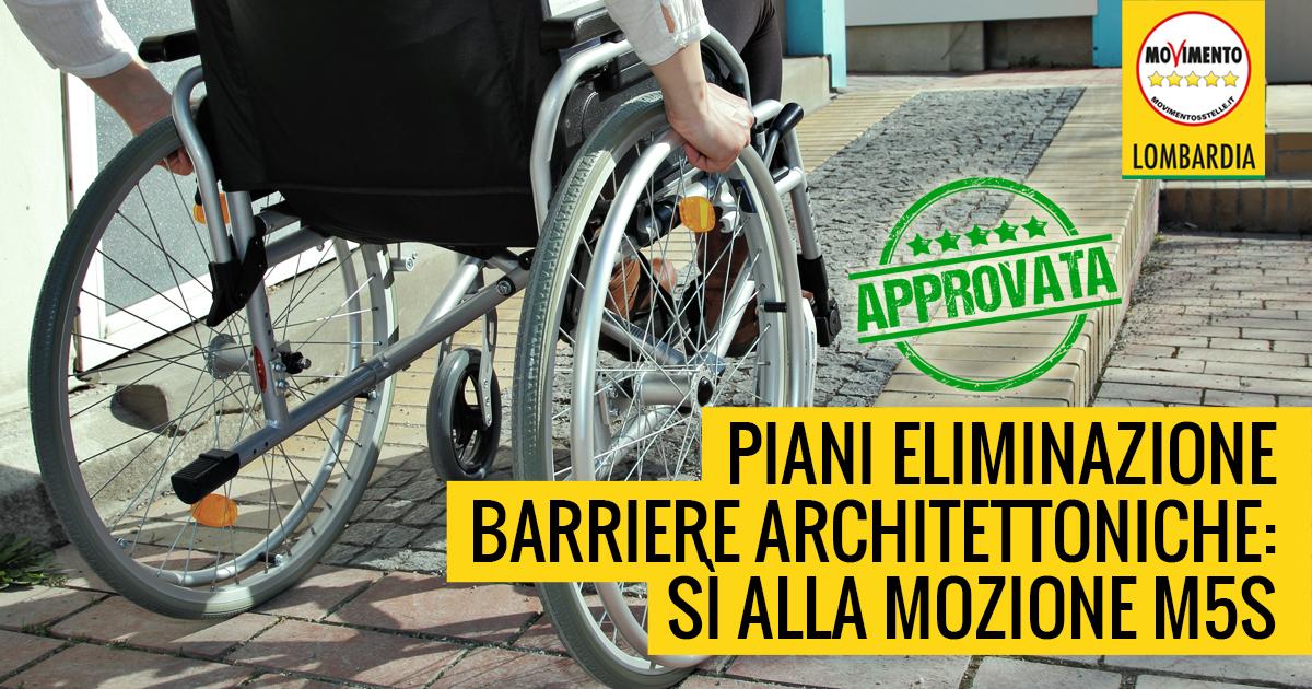 Rimozione delle barriere architettoniche: Sì alla mozione M5S