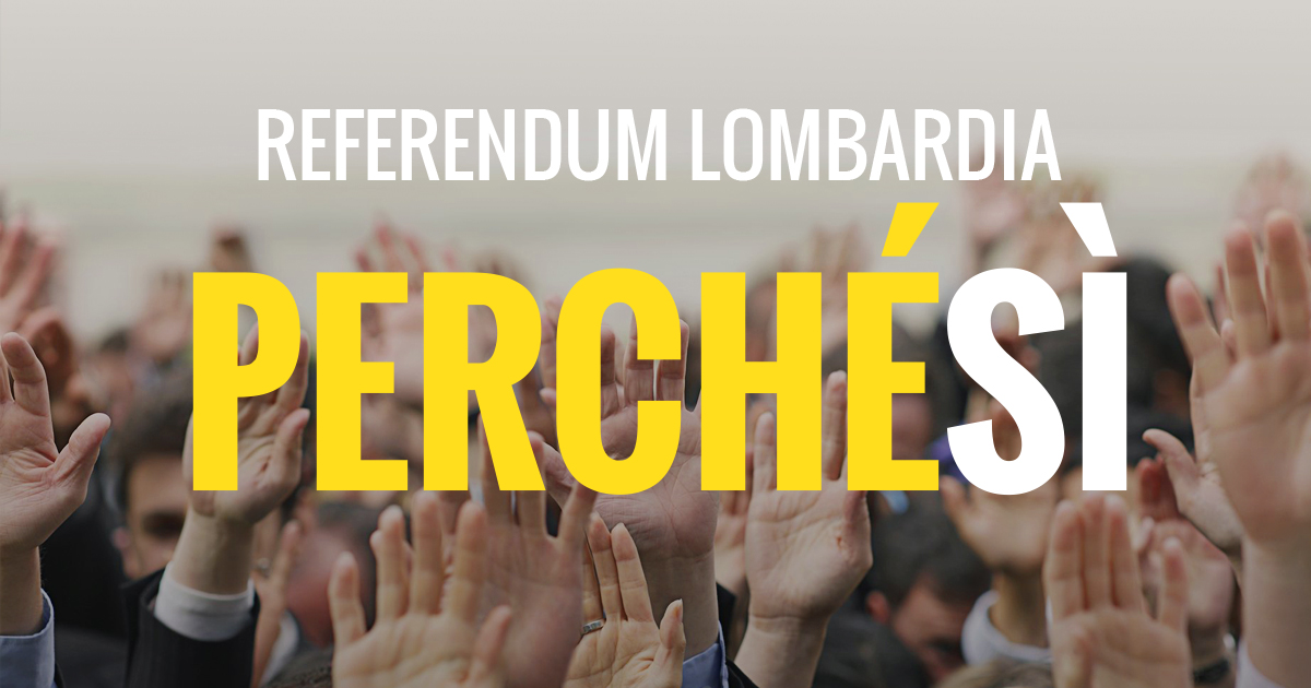 Sì al referendum in Lombardia
