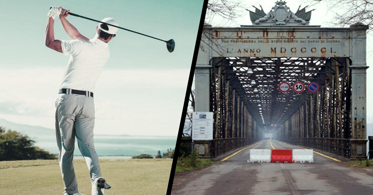 Bilancio 2017. 500 mila euro per il torneo di Golf, zero euro per Ponte della Becca che cade a pezzi.