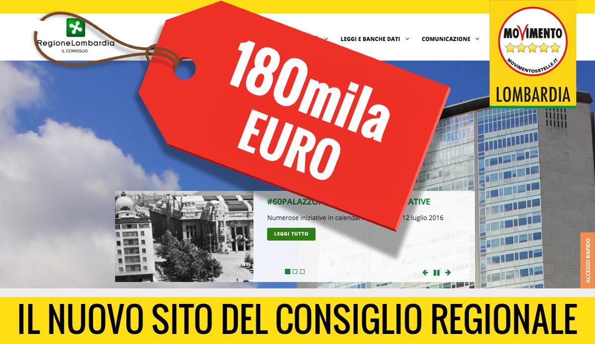 Nuovo sito del Consiglio a 180 mila euro: cifra scandalosa