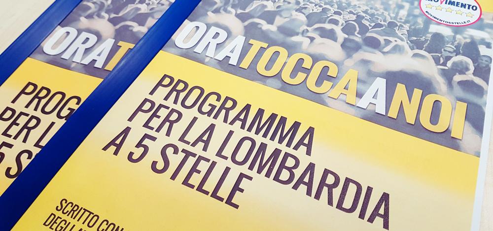 Regionali 2018. Il PROGRAMMA del M5S per la Lombardia.