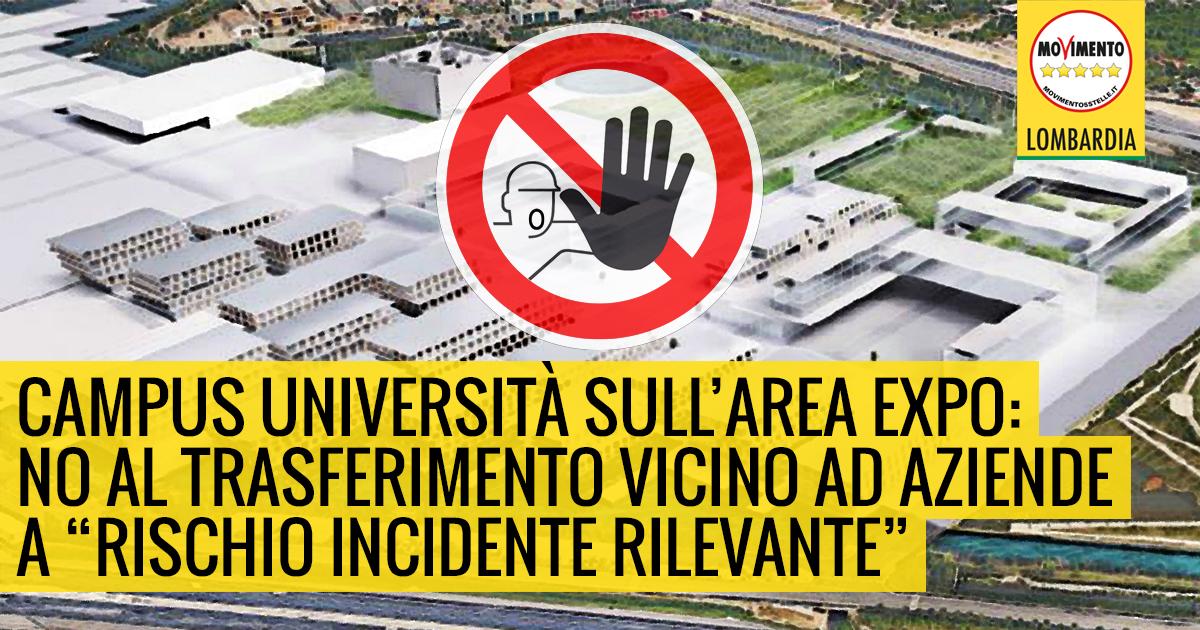 Rischi trasferimento Università statale su sito Expo. Interrogazione del M5S Lombardia