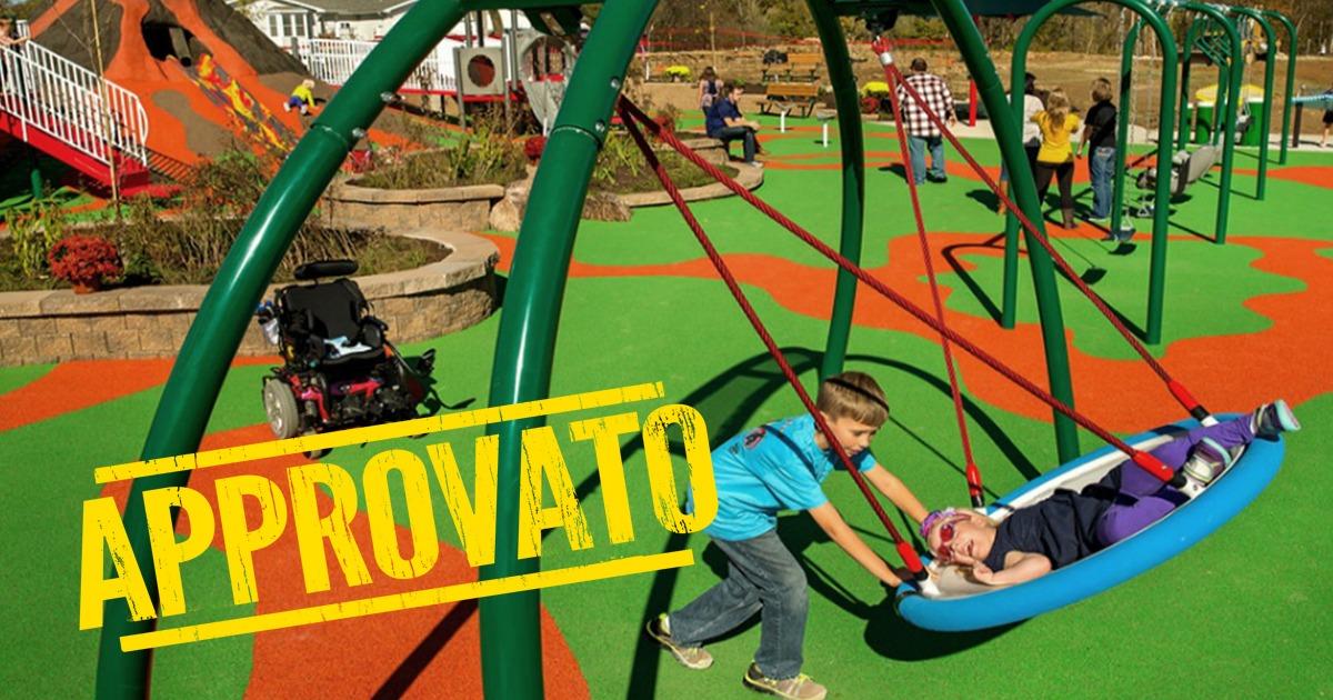 BILANCIO. 1 milione di euro per i parchi giochi inclusivi grazie al M5S