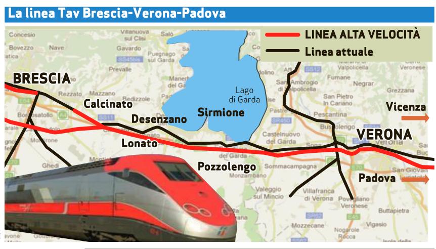 TAV Brescia-Verona, Regione sta sottovalutando l'impatto sul territorio
