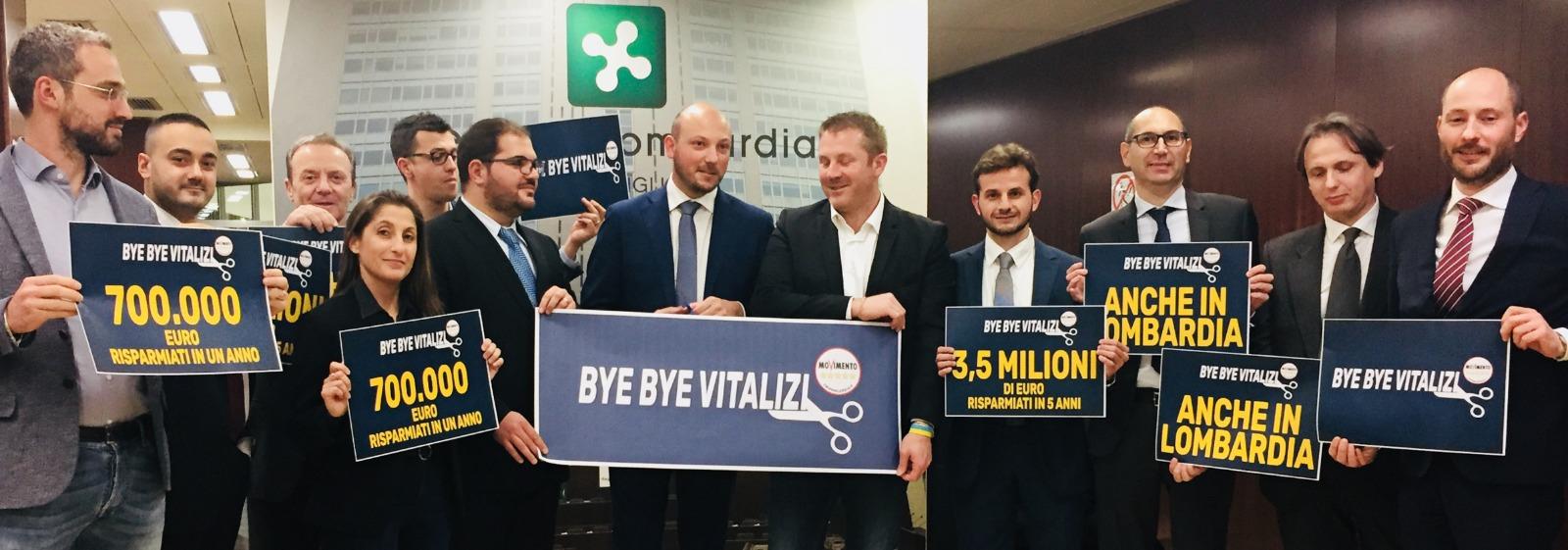 #ByeByeVitalizi in Lombardia. Risultato storico. Risparmiati tre milioni e mezzo di euro