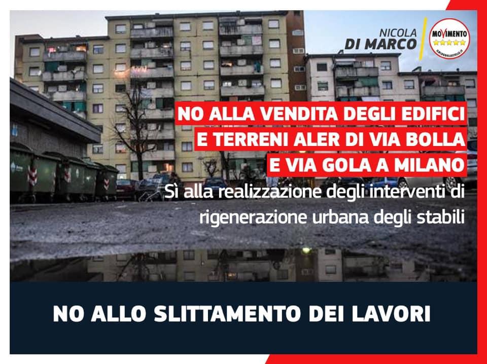 Rigenerazione urbana Via Bolla e Via Gola: possibile svendita di terreni Aler