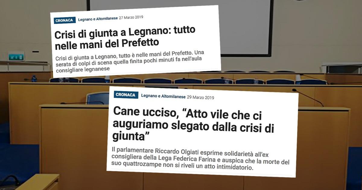 Legnano va commissariata: Salvini intervenga