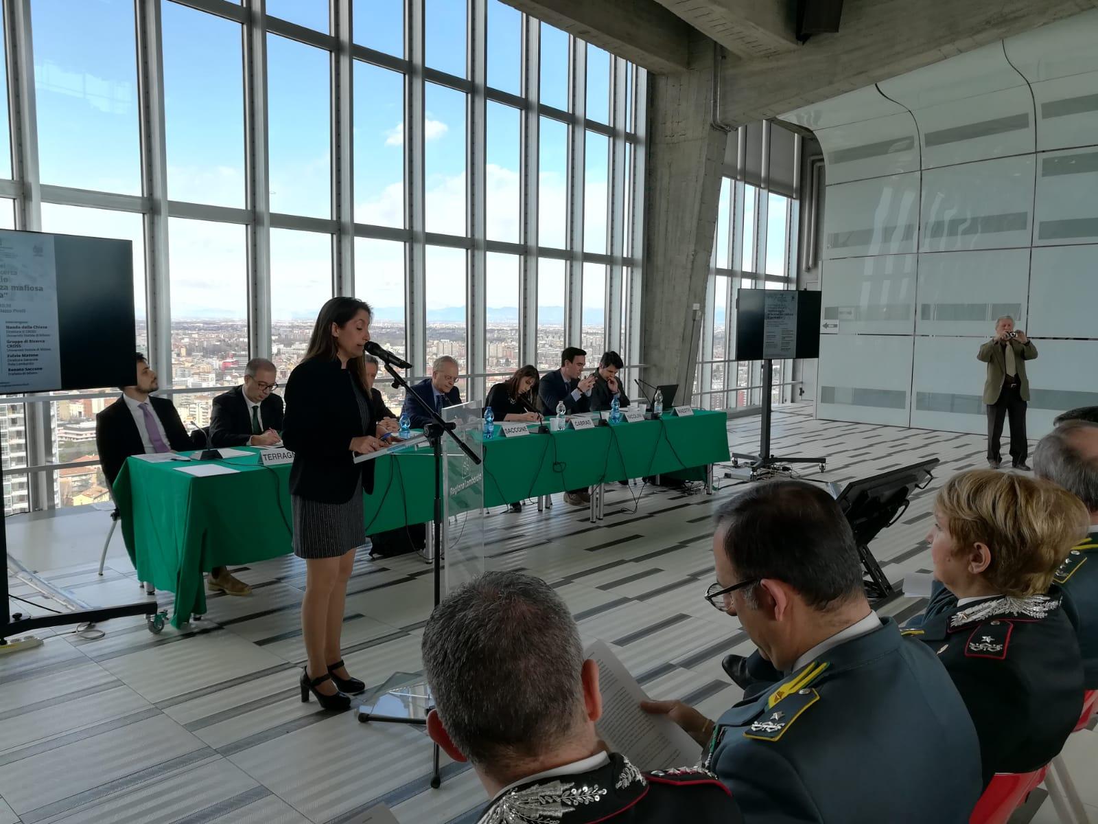 """""""Monitoraggio della presenza mafiosa in Lombardia"""", presentato al Pirellone il secondo rapporto"""