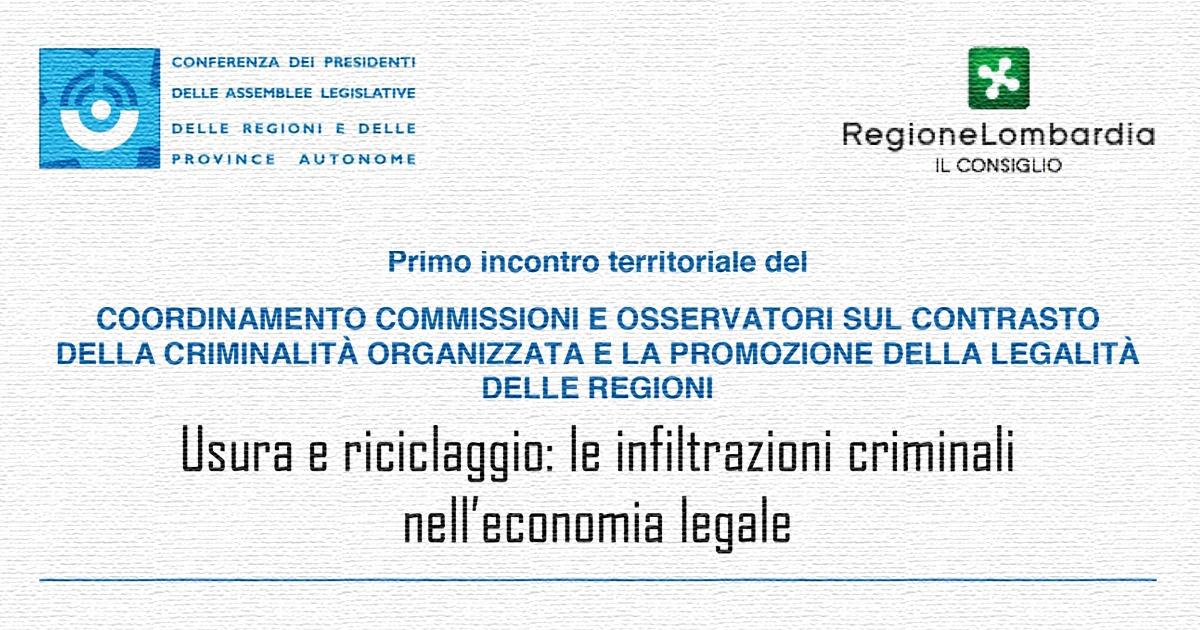"""Primo incontro territoriale del Coordinamento regioni per il contrasto mafie: """"fronte comune per strategie vincenti"""""""
