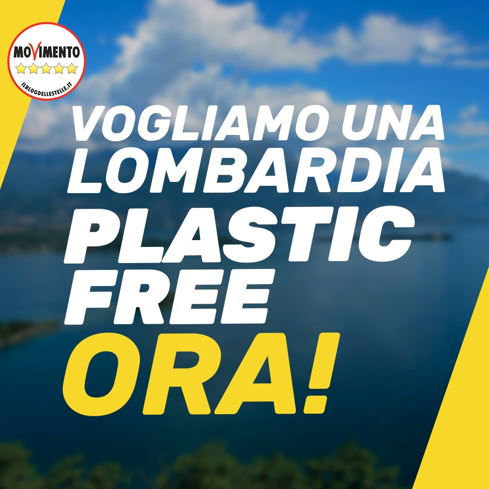 Plastic free, ora corsia preferenziale per nostra proposta di legge regionale