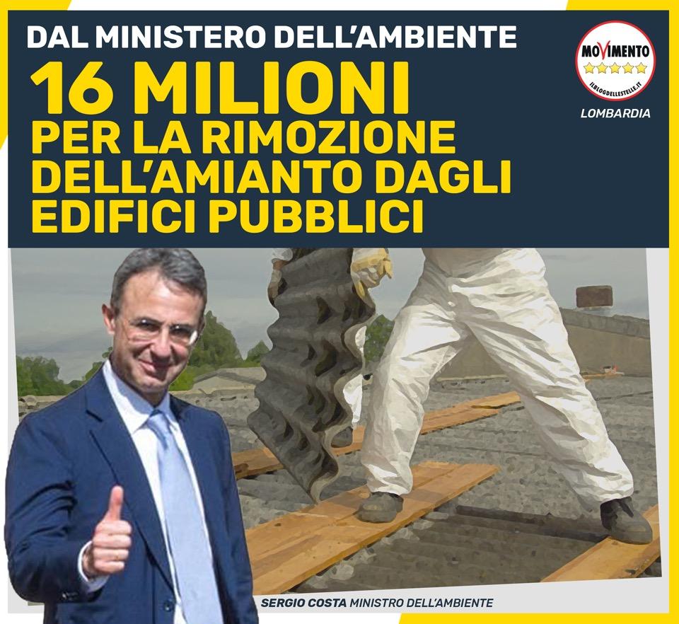 """16 milioni alla Lombardia per la rimozione dell'amianto: """"usiamoli per gli edifici scolastici"""""""
