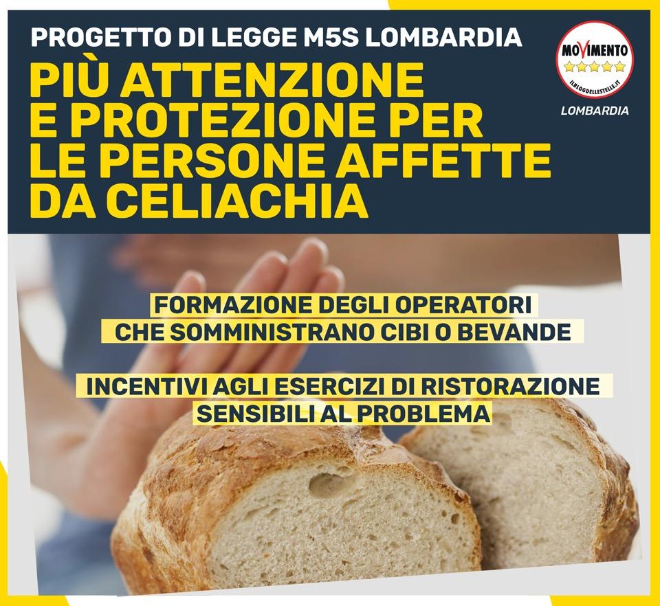 """Celiachia, Degli Angeli (M5S) presenta legge in Regione: """"Nessuno deve essere discriminato""""."""