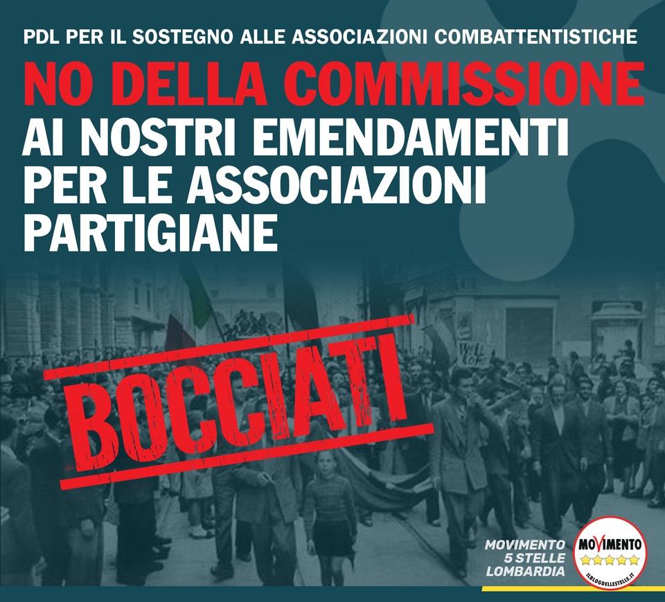 Negato il sostegno ad Associazioni partigiane.