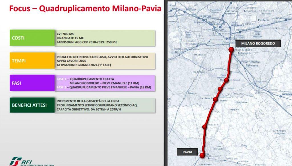Quadruplicamento tratta Milano-Pavia: via libera dal CIPE