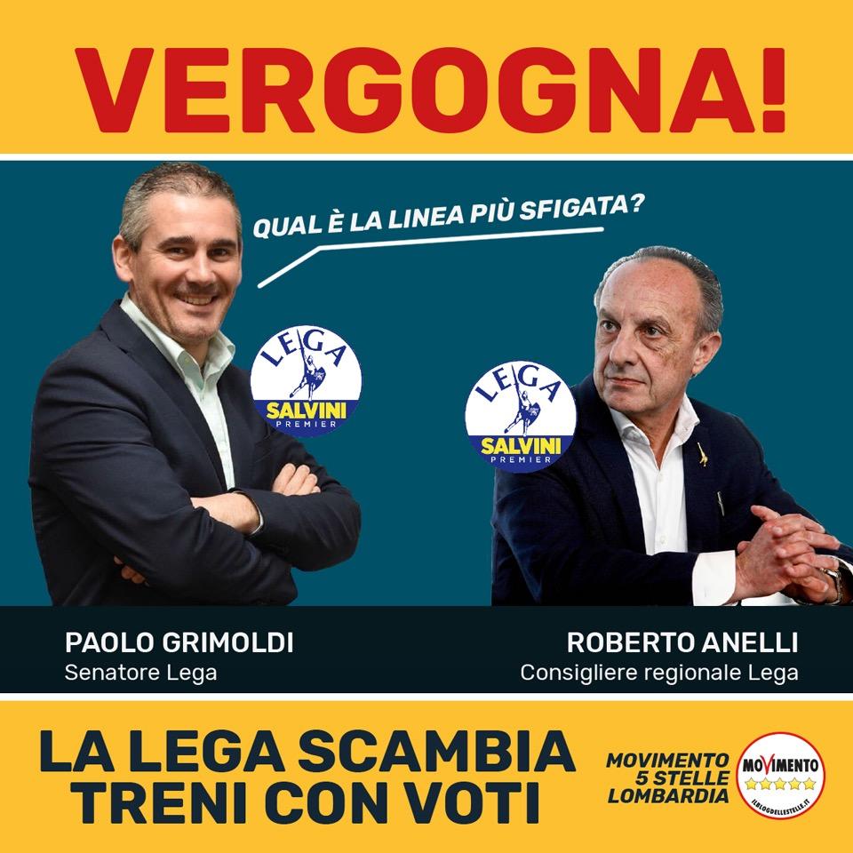 Lega senza vergogna: usa i treni lombardi solo per fare spot elettorali