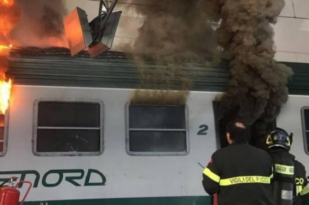 Trenord- da tre anni niente corsi antincendio per i dipendenti