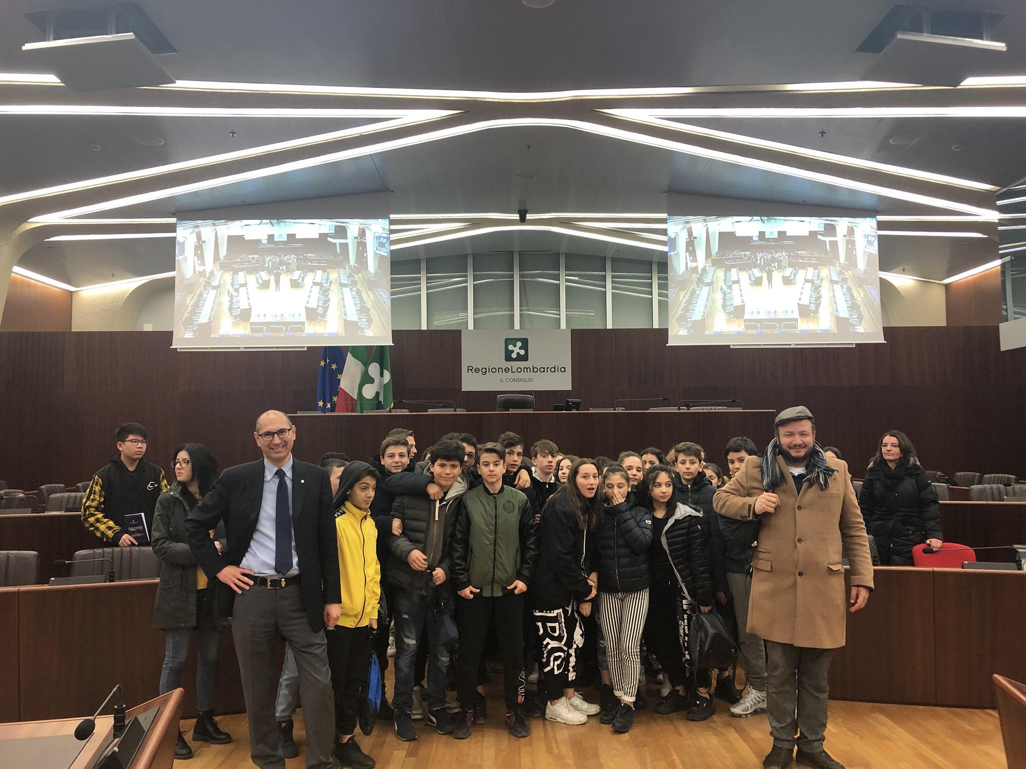 I ragazzi di Brugherio in visita a Palazzo Pirelli